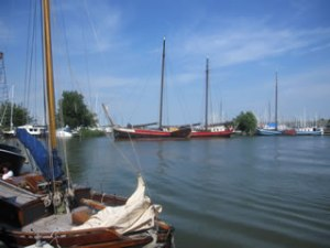 Summer day in Monnickendam harbour