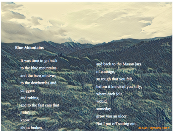 Blue Mountains poem postcard larger