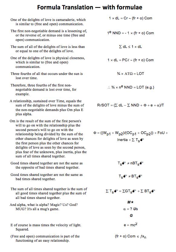 Formula Translation — with formulae
